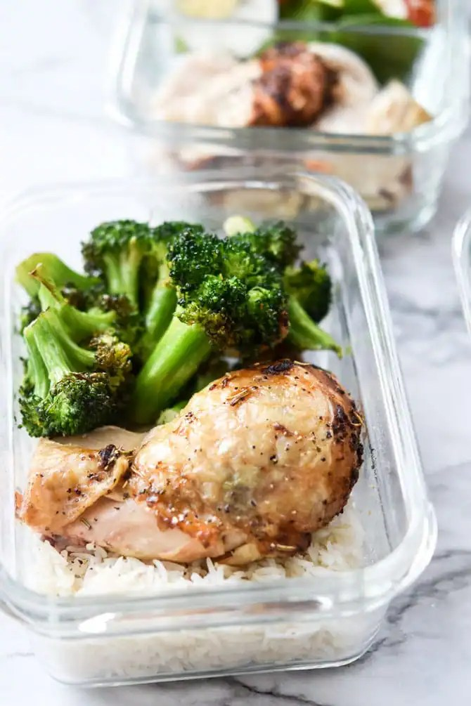 1 Rotisserie Chicken, 4 Meal Prep Lunches-4