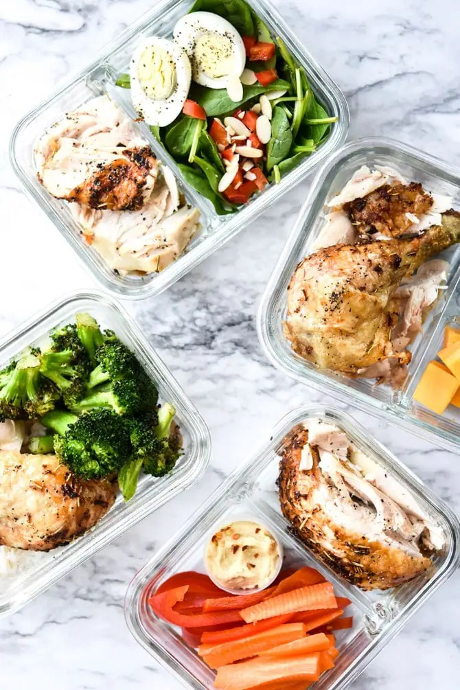 1 Rotisserie Chicken, 4 Meal Prep Lunches-6