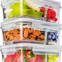Glass Meal Prep Containers Glass 2 Compartment