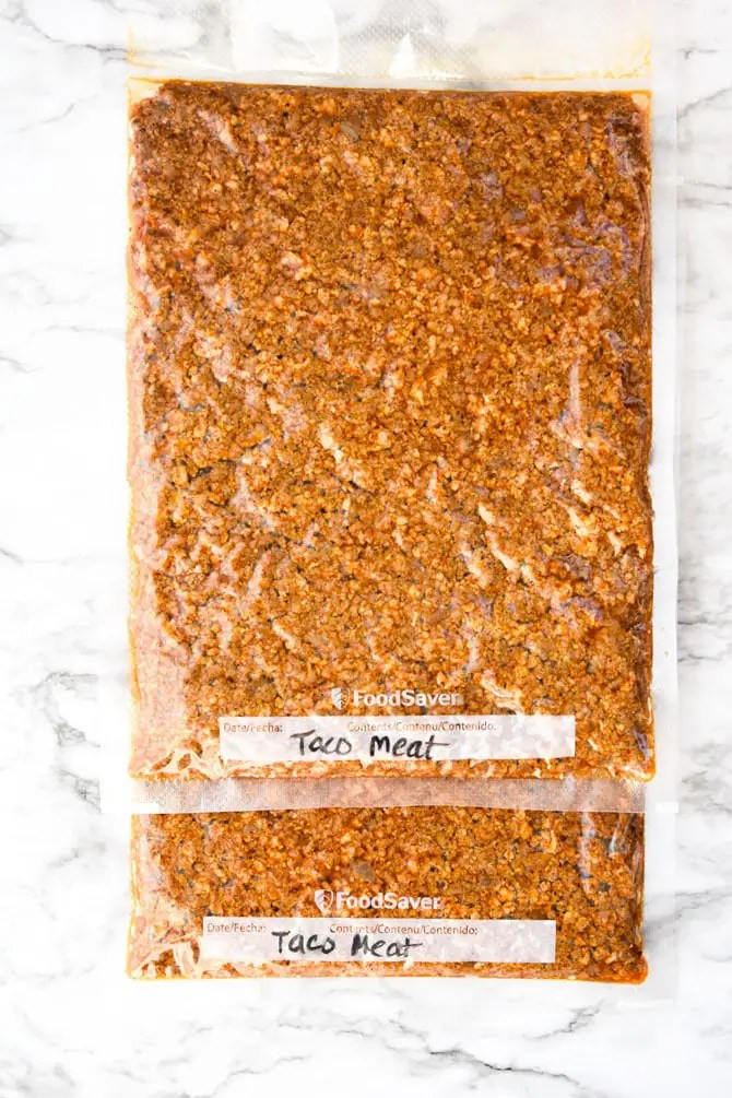 Batch Prep Taco Meat - freezer pack