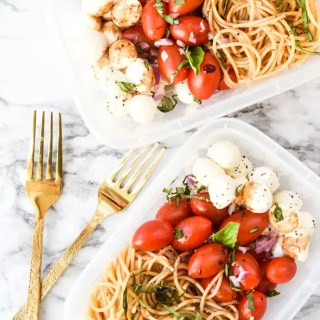 Caprese Cold Noodle Meal Prep -2