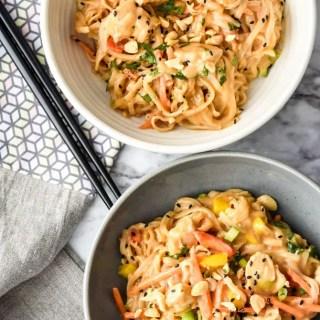 Instant Pot Sticky Garlic Peanut Noodles with Chicken-6