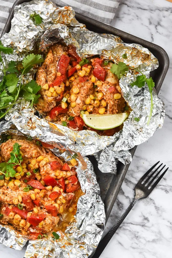 Chili Lime chicken Foil packs