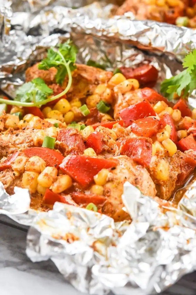 Chili Lime chicken Foil packs-4