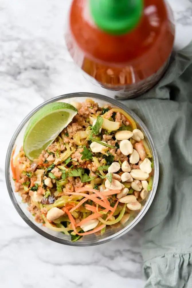 Thai Peanut Ground Pork Bowl-7
