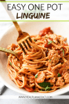 Easy one pot linguine pin