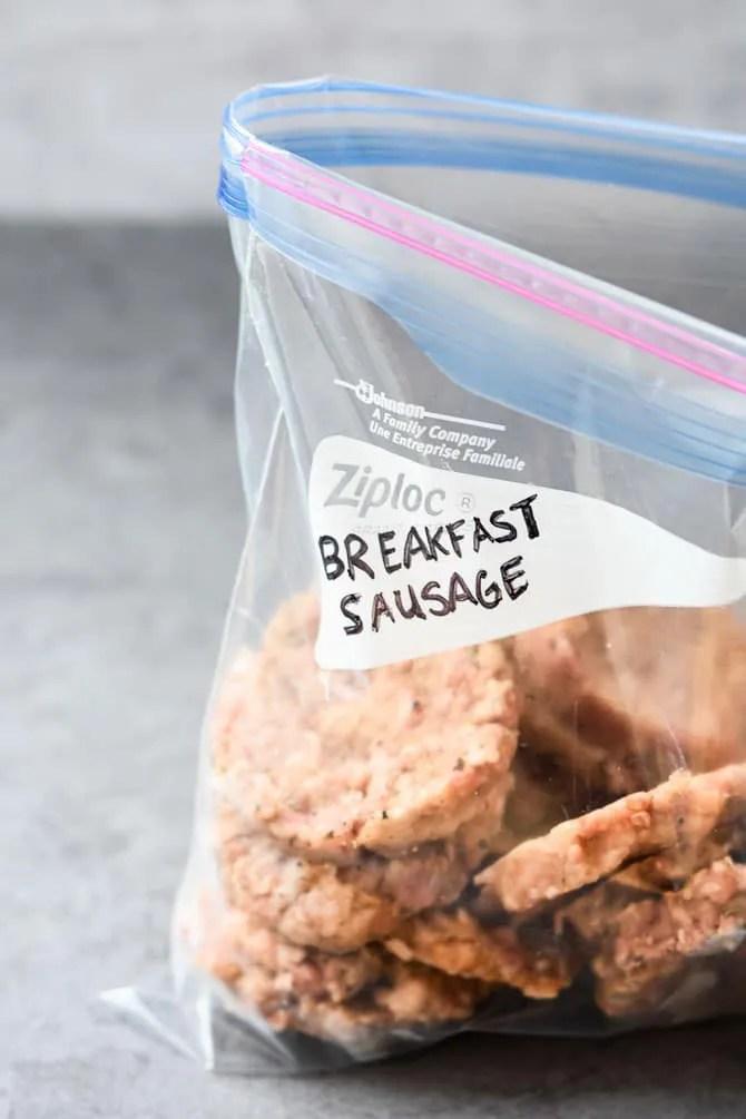Maple Sriracha Breakfast Sausages frozen