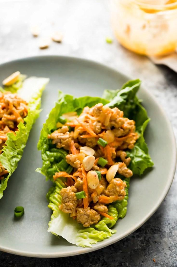 Thai Turkey Lettuce Wraps (+ Video)