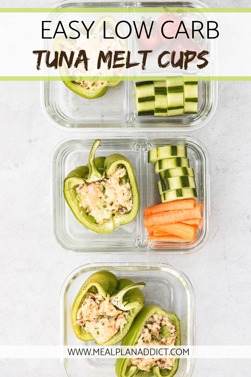 Easy Low Carb Tuna Melts Cups