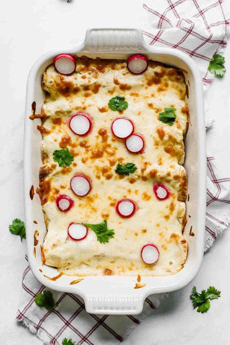 Skinny Creamy Chicken Enchiladas (Freezer Meal)