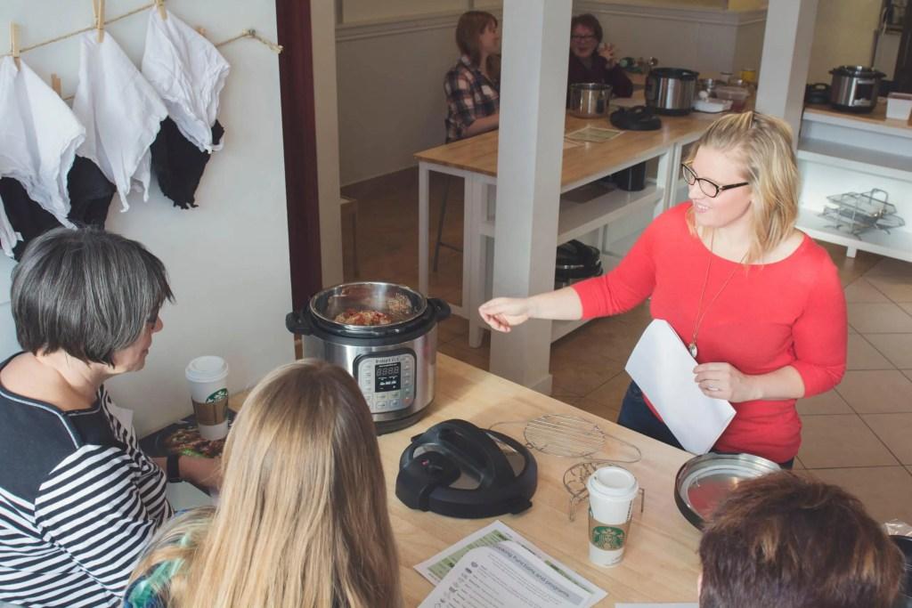 Steph teaching an instant Pot Class