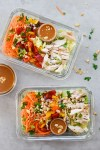 Chinese Chicken Salad in 2 prep containers overhead