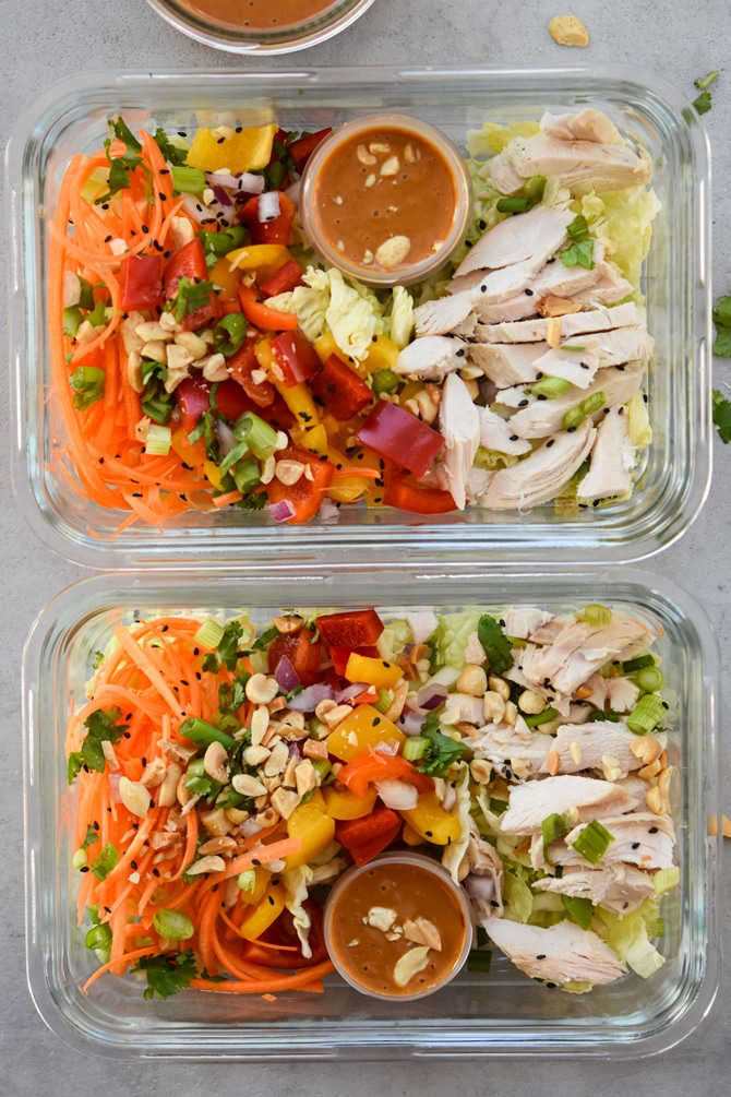 Asian chicken chopped salads
