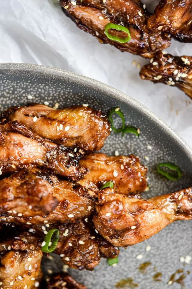 crispy wings on plate