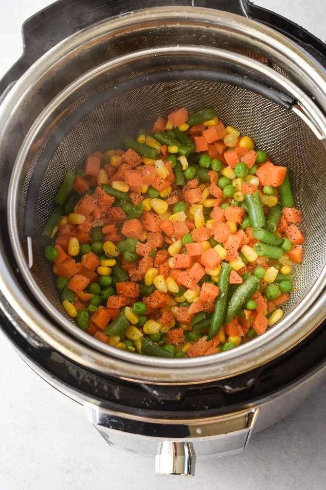 frozen veggies in instant pot