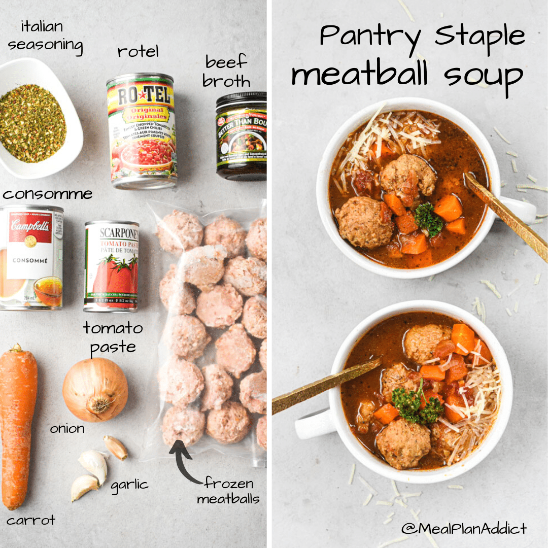 pantry staple meatball soup ingredients