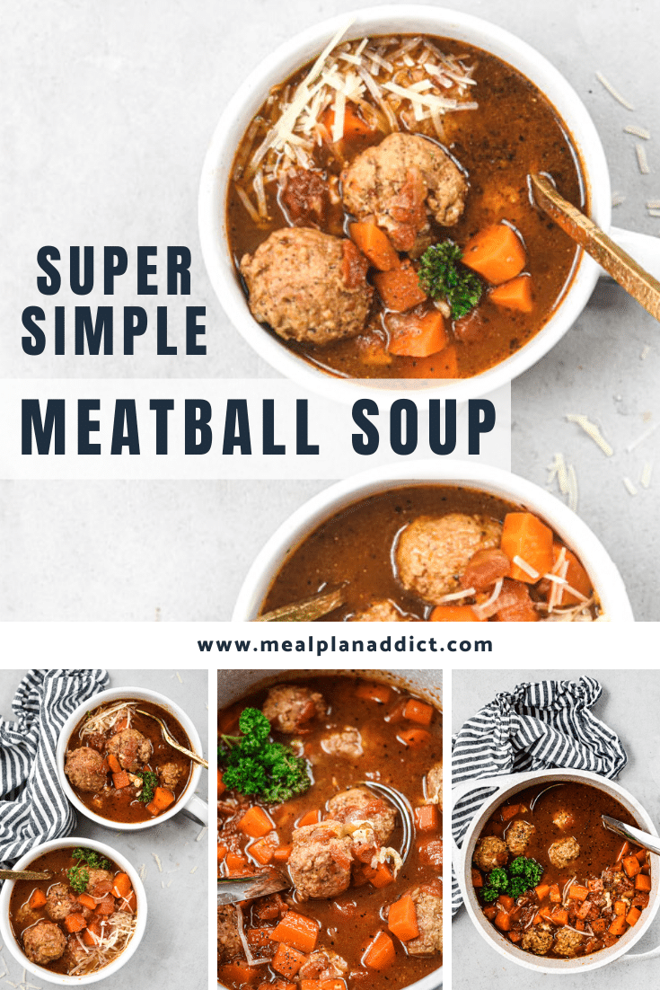 super simple meatball soup