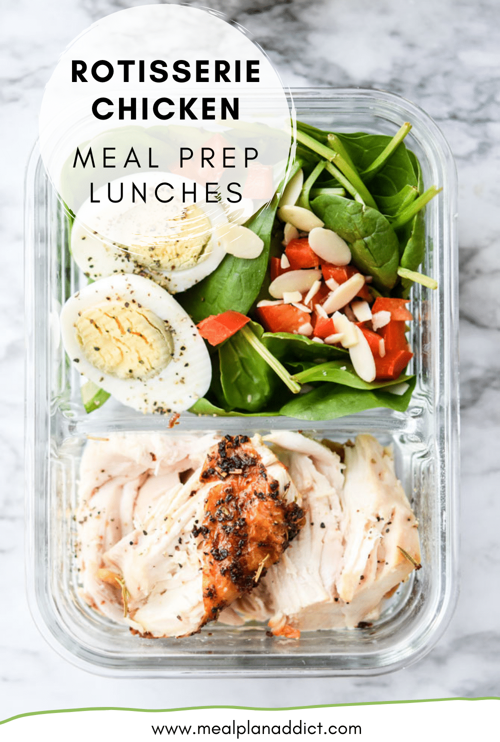 Rotisserie Chicken Meal Prep Lunches