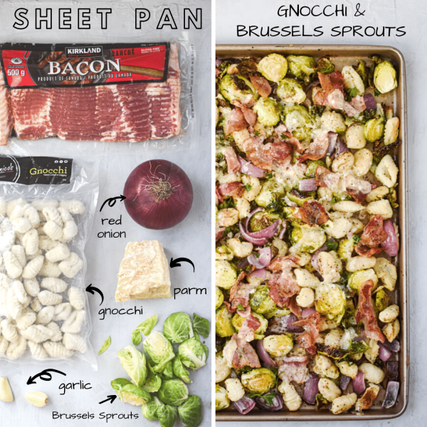SHEET PAN GNOCCHI AND BRUSSELS SPROUTS ingredients