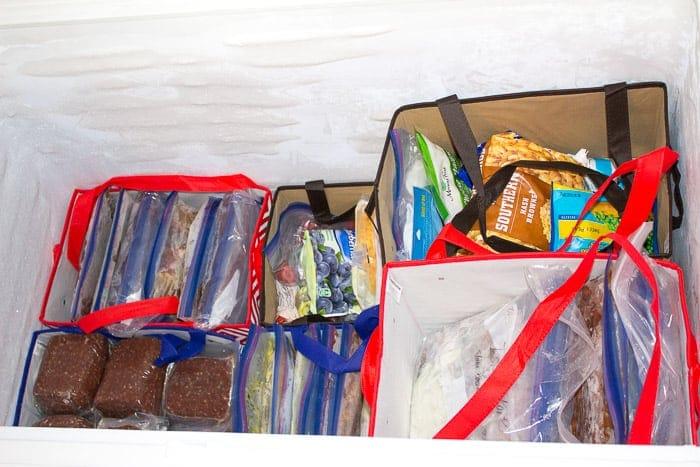 happymoneysaver reusable bags in freezer