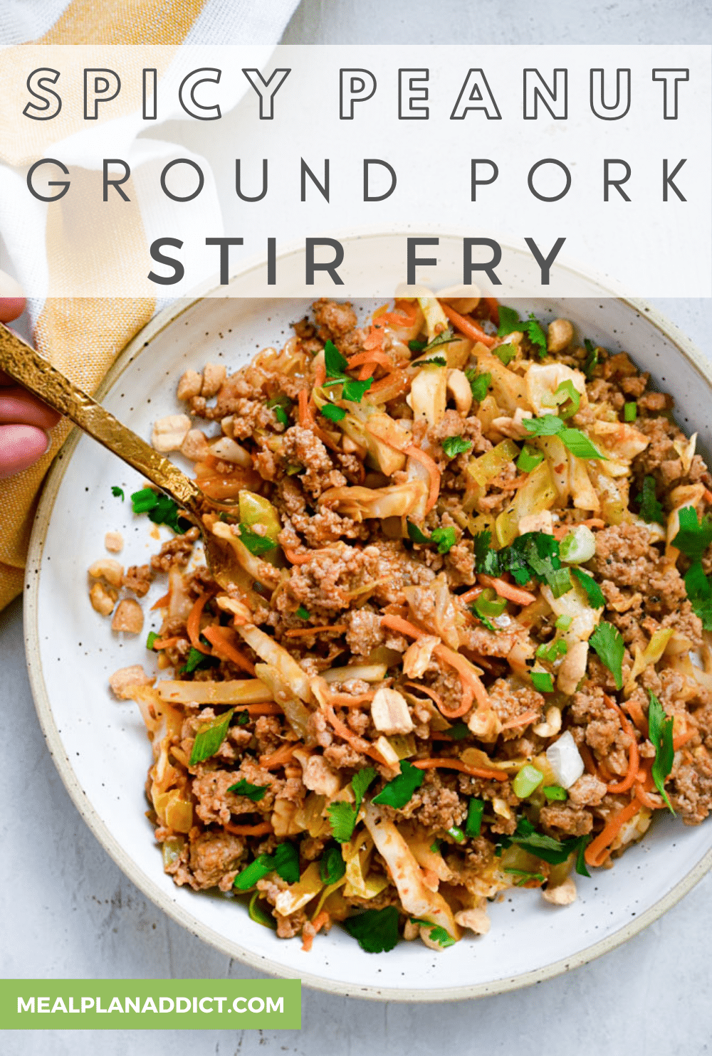Spicy Peanut Ground Pork Stir Fry