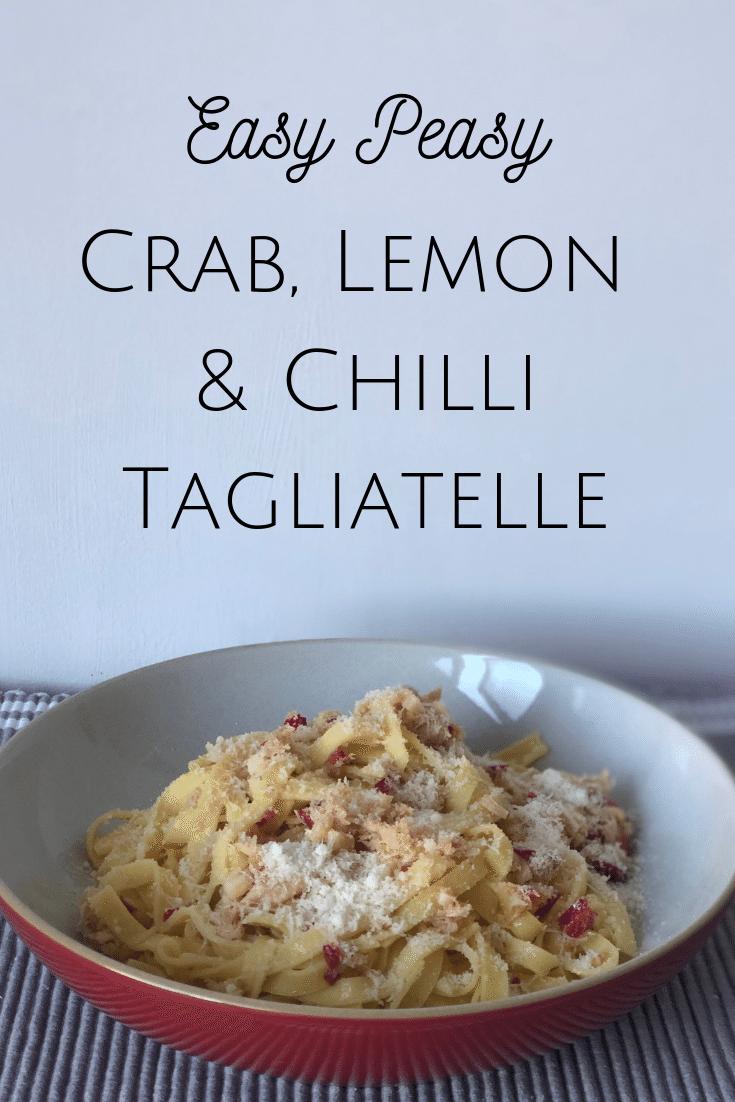 Easy Crab, Lemon and Chilli Tagliatelle! #familymeal #mealplanning #pasta #crab #lemon #chilli