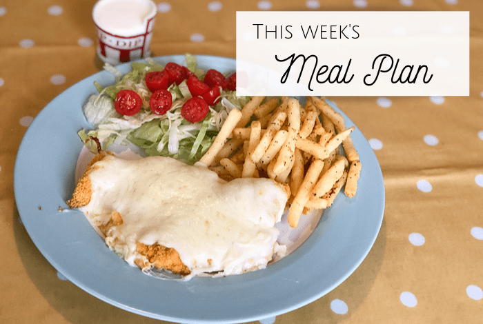 This week's meal plan.