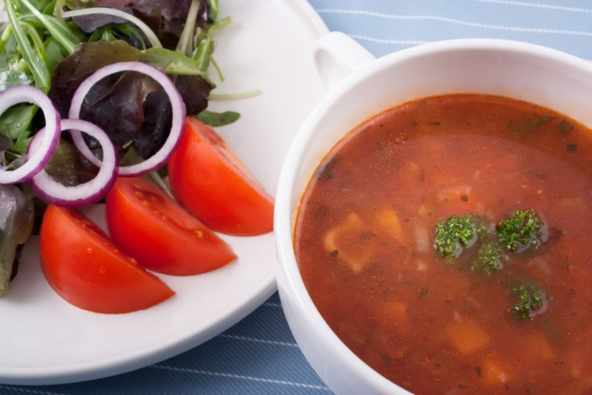 Soup and salad night is part of this done for you meal planning template. Use it to plan your meals for the week.