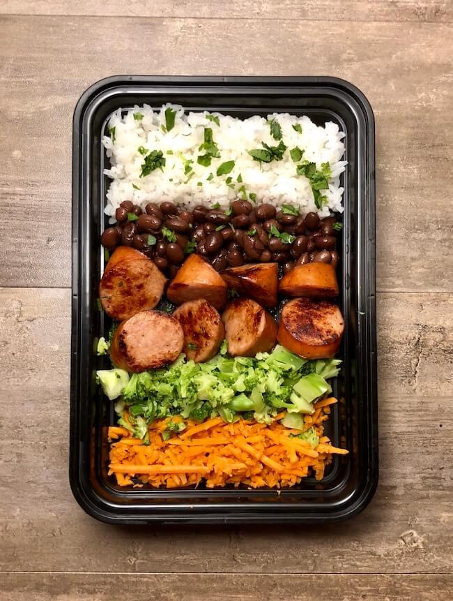 Kielbasa with Rice & Beans
