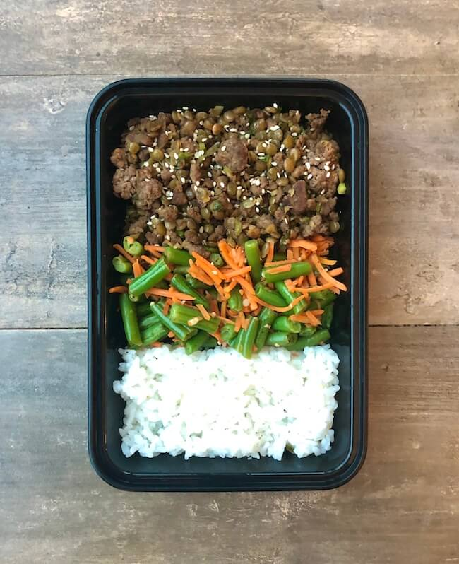 Sesame Beef and Lentils