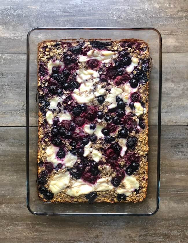 Berries and Cream Baked Oatmeal
