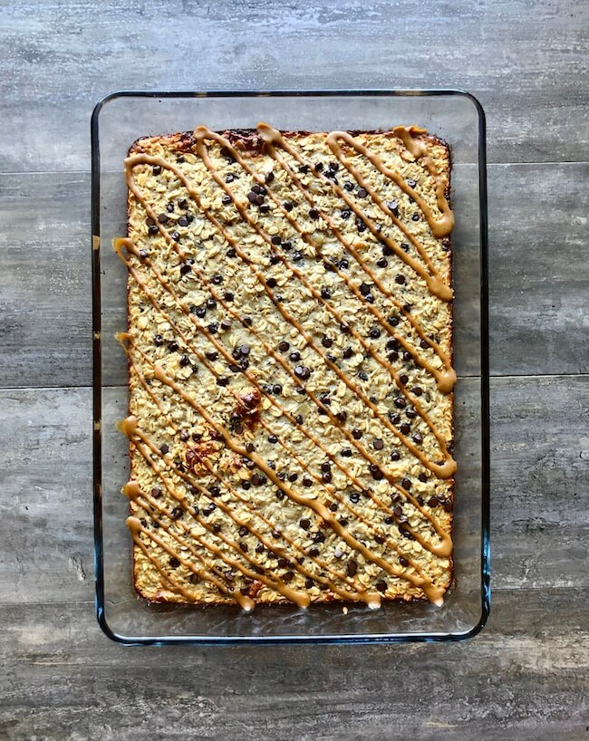 Read more about the article Peanut Butter Chocolate Chip Baked Oatmeal