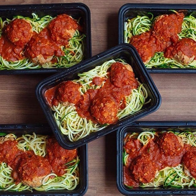 low carb zoodle meal prep