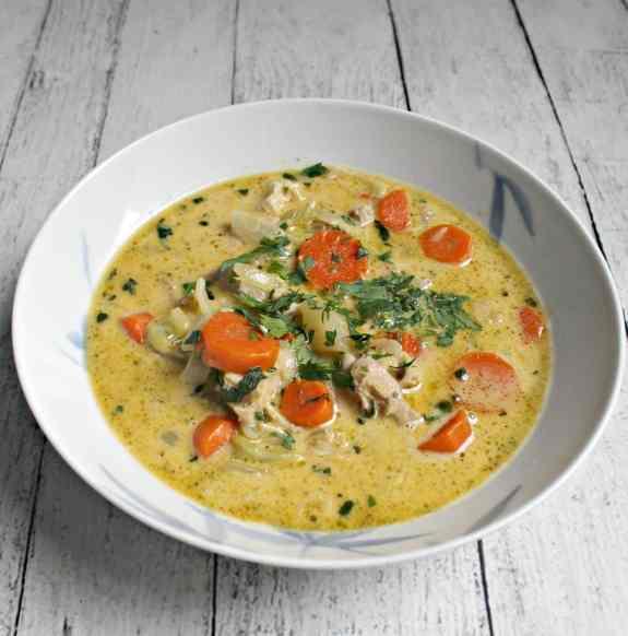 Leftover Turkey Pot Pie Soup