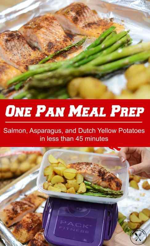 one pan salmon meal prep - meal prep on fleek