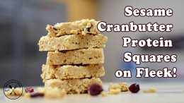 Sesame Cranbutter Protein Squares