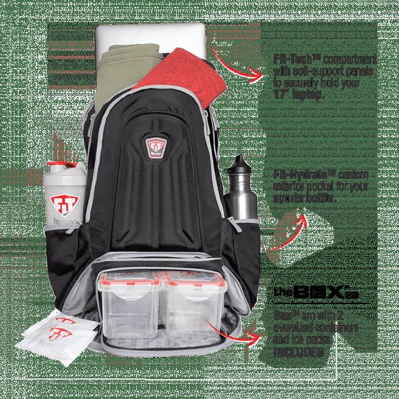 FitMark Meal Prep Black Envoy backpack