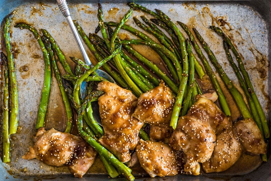 Chicken and Asparagus with Oyster Sauce