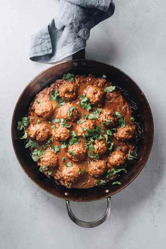 20 Minute Paleo Thai Almond Butter Turkey Meatballs