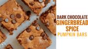 Dark Chocolate Gingerbread Spice Pumpkin Bars