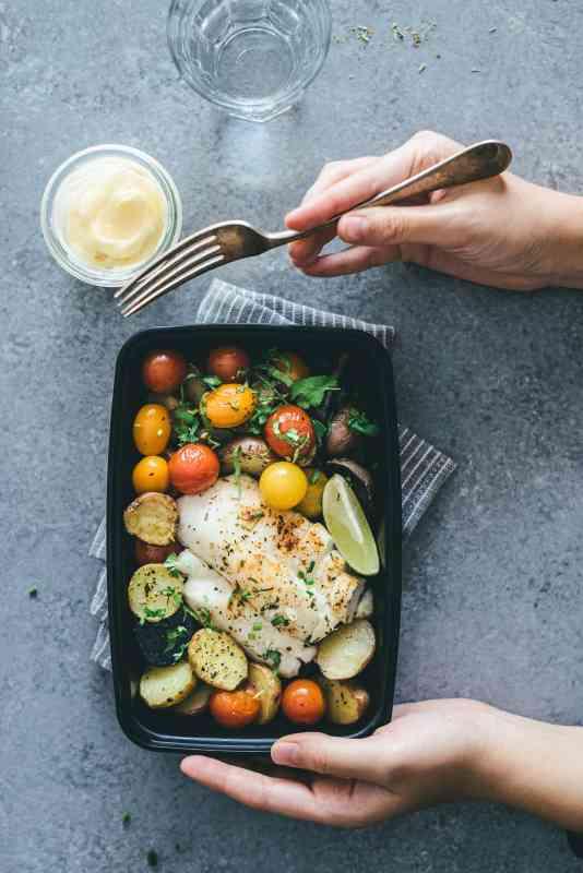 Whoel30 Baked Cod and Veggies Sheet Pan Recipes