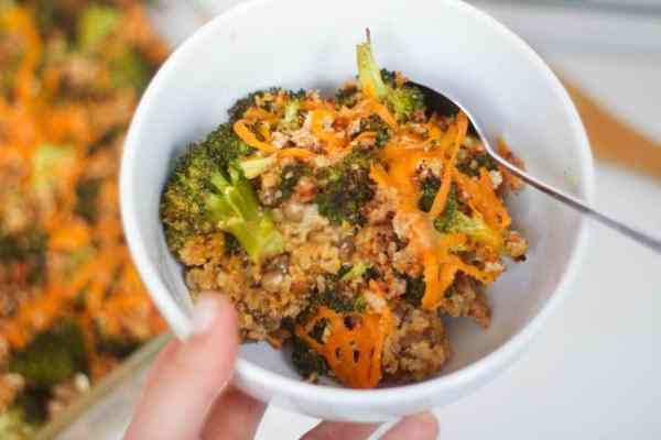 Broccoli Lentil Quinoa Casserole