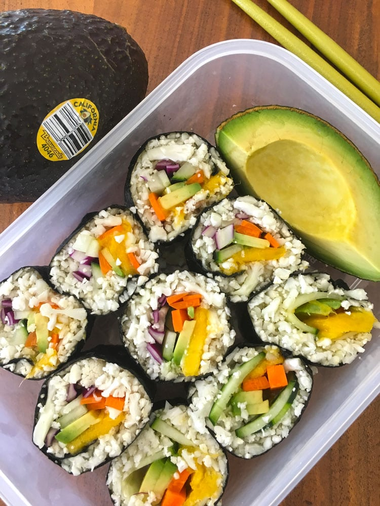 sushi meal prep