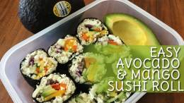 Avocado & Mango Sushi Roll Recipe