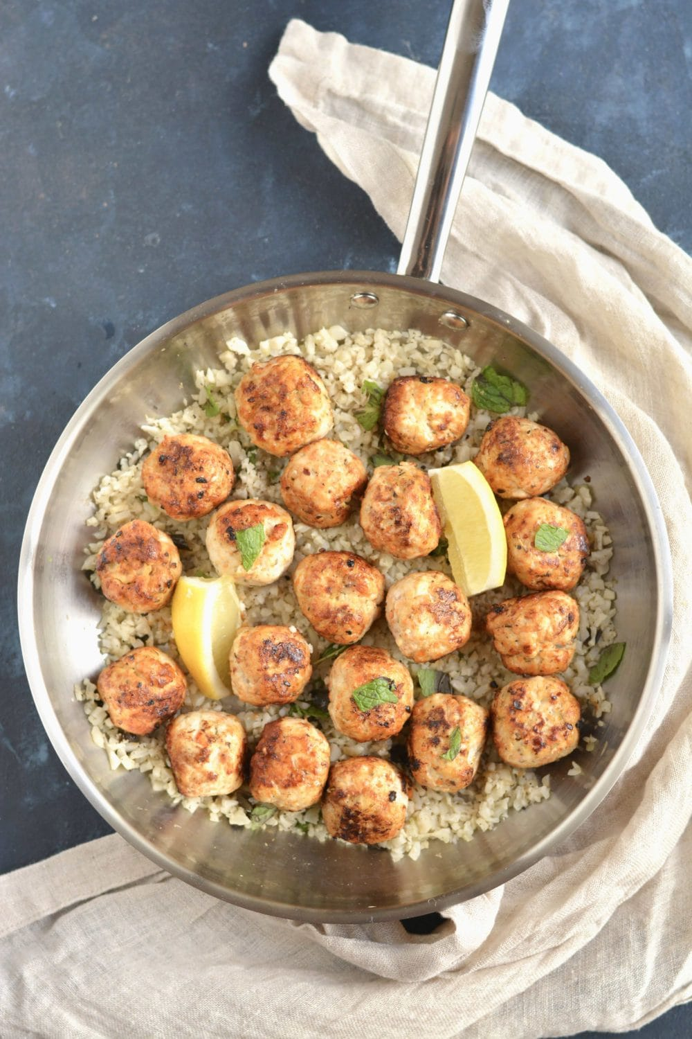 18 high protein meal prep recipes meal prep on fleek carrot meatballs with mint cauliflower rice forumfinder Image collections