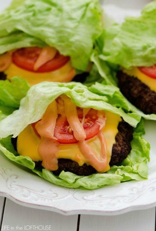 Keto Cheeseburger Lettuce Wraps