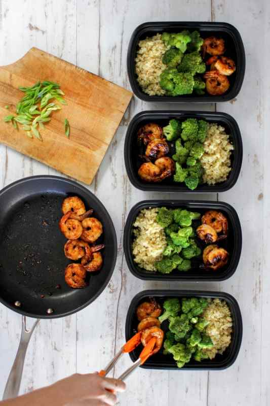 Coconut Sugar Sriracha Shrimp Meal Prep