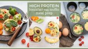 High Protein Breakfast Egg Muffin Meal Prep Ideas