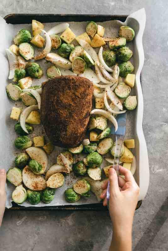 Sheet Pan Chipotle Eye Round Roast Meal Prep