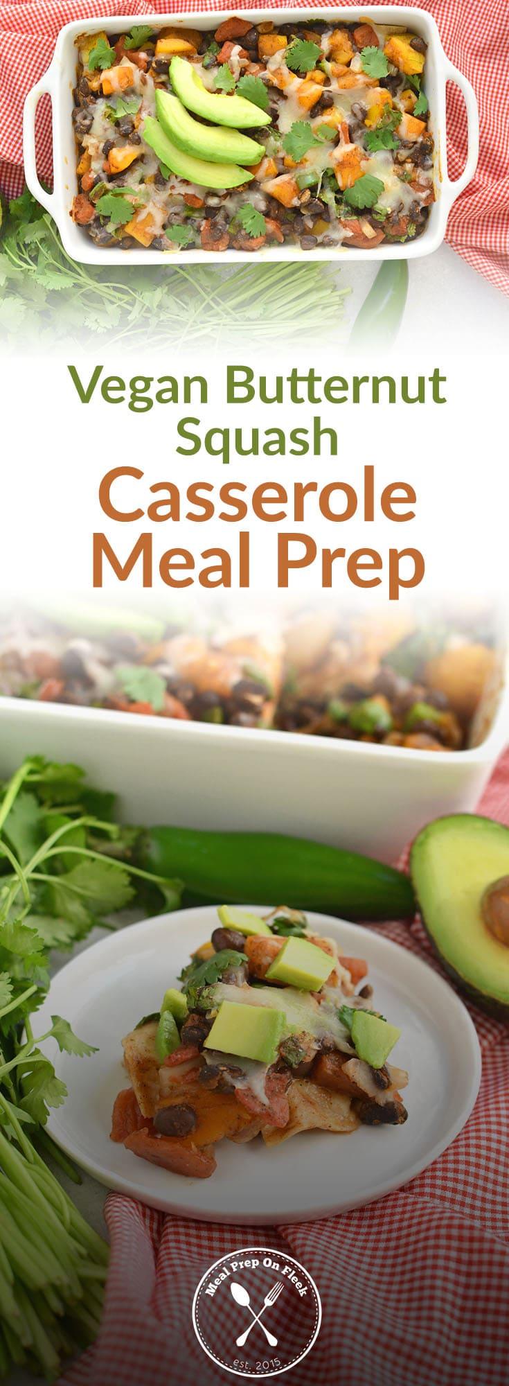 Vegan Butternut Squash Casserole Meal Prep